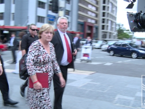 Morcombe family arrives at court
