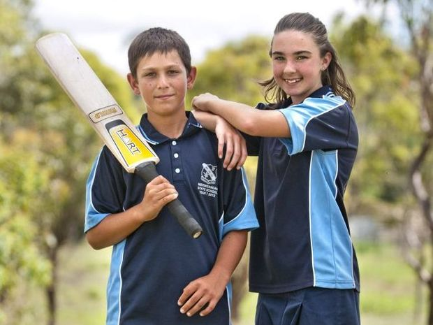 Nathan Carroll and Imani Holloway will both play for Queensland at the Australian Under-12 Cricket Championships.