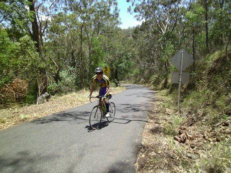 Sam Anderson rode over 400 kilometres during schoolies week.