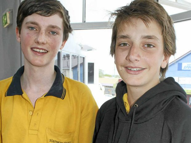 REVIVAL TRIP: Southern Cross School K-12 students Tim Eddy (left) and Owen Taylor are heading to Japan for two weeks to see the recovery efforts following last year's tsunami and earthquake.