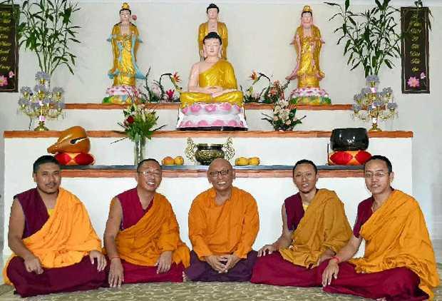 MONKING ABOUT: Tenpa Gyatso, Phunsok Shakya, Geshe Nwawang Gedun, Dakpa and Phunsok Lhundrup will be in Lismore all next week.