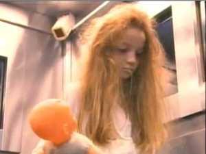 Ghostly girl invades elevator in terrifying TV prank