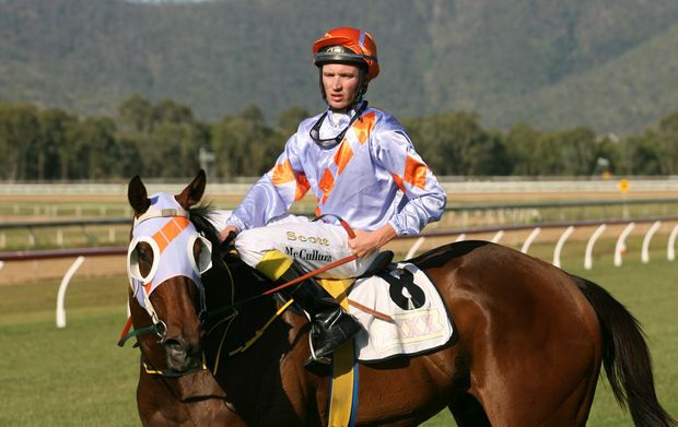 Winner of race 5 at Callaghan Park, Scott McCallum on All Significant. Photo: Chris Ison / The Morning Bulletin