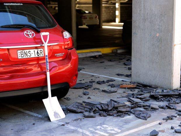 Damage at Saytai resort at Casuarina Beach. Photo: John Gass / Daily News