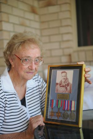 Bette Wicks is happy her mother's dying request will be fulfilled with her ashes being placed with her husband, Flight Sergeant John Lyon, who was killed in Papua New Guinea during the Second World War.