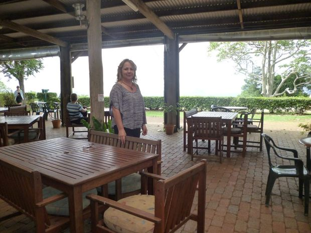 Sarah Castaldi loves the rustic feel of the Mary Cairncross Kiosk.