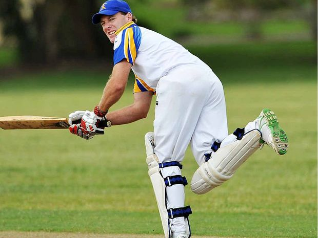 Cricket Sawtell v Colts action at Richardson Park. Photo: Bruce Thomas