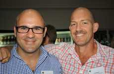 Stuart Greensill, left, of HTW and Tom Wood of Ferguson Cannon Lawyers at the HTW Christmas party at Mooloolaba Yacht Club Photo: Erle Levey / Sunshine Coast Daily