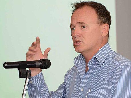 Paul Massingham addresses business leaders.