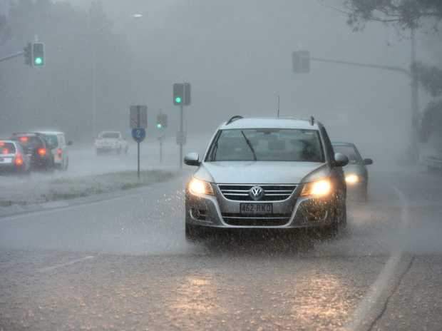 Wet weather in Currumbin. Photo: John Gass / Daily News
