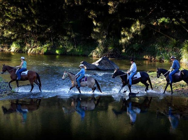 SAVED: Riders enjoy the area they helped to save from the Traveston Crossing dam proposal.