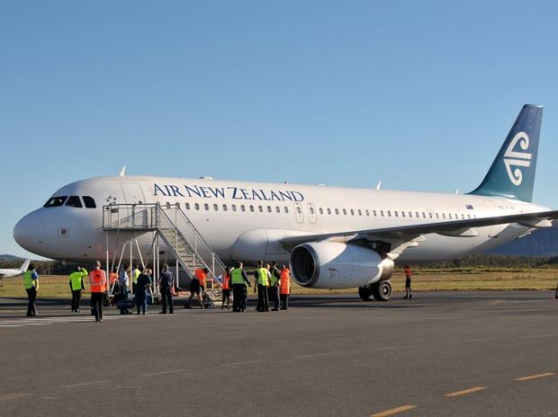 Air New Zealand at Sunshine Coast Airport.