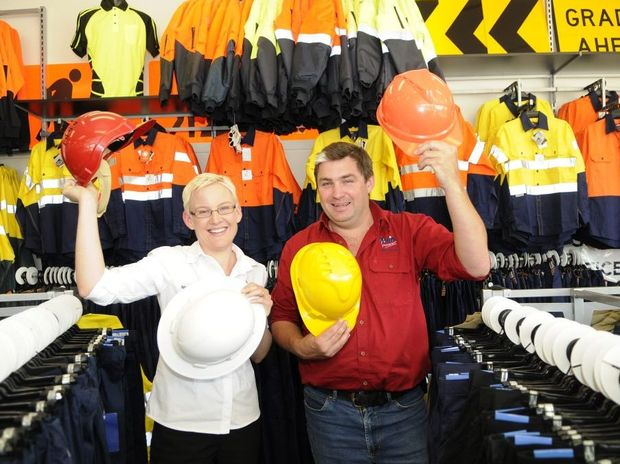 Owners of Hip Pocket Workwear and Safety Nicolette Gormley and her brother Graham Strang.