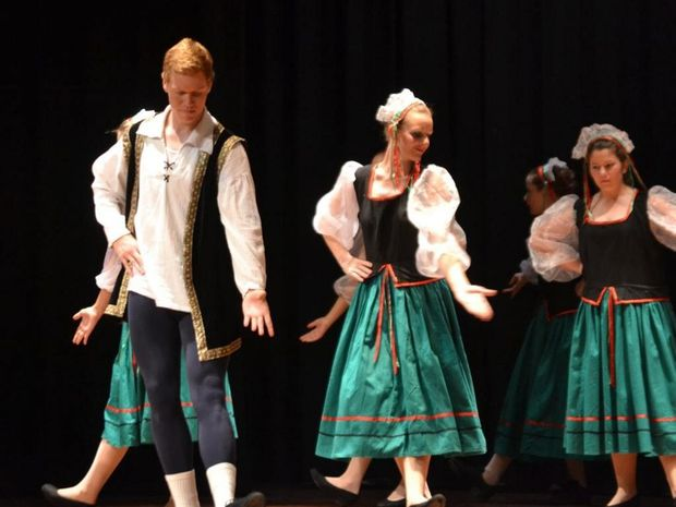 A scene from Searching for Cinders at the Cultural Centre on Friday.