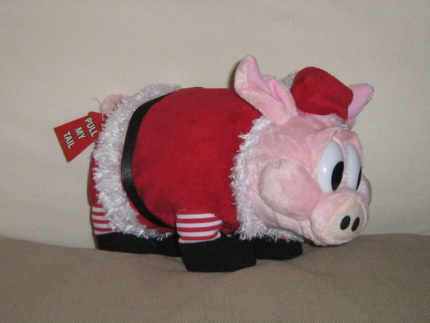 This Christmas pig was stolen from Hog's Breath Cafe in Hervey Bay.