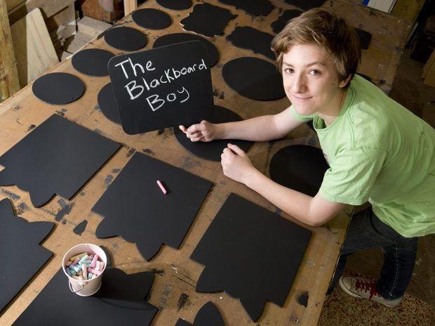 James Bartlett is the Blackboard Boy . Photo Nev Madsen / The Chronicle