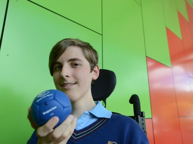 Tait Jenkins is a talented boccia player who has been earmarked for the 2016 paralympics. Photo Marc Stapelberg / The Northern Star