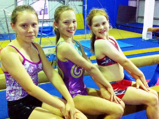 Gymnasts Phoebe Wilson, Jade Bailey and Ivy Dugdale have moved into level four.