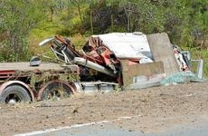 Traffic on the Bruce Highway came to a standstill following a fatal rollover involving a semi-trailer yesterday.