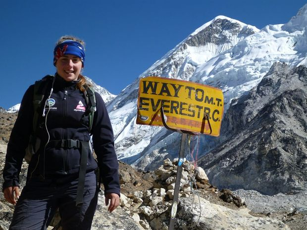 Alyssa Azar at Base Camp in Nepal.