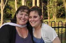 Holly Golding and her mum Melinda Golding.