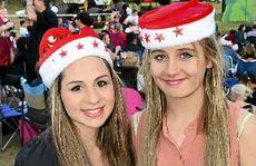 Vanessa Evans,16 (left), of Springfield, and Alisha Shattos, 14, of Redbank Plains.