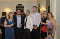 Peta Hewitt, Ben Favaro, Dean Borg, Beau Harricks, Michelle Cirson and Emma Barham at the Future Leaders' end-of-year celebration at Gabbinbar Homestead.