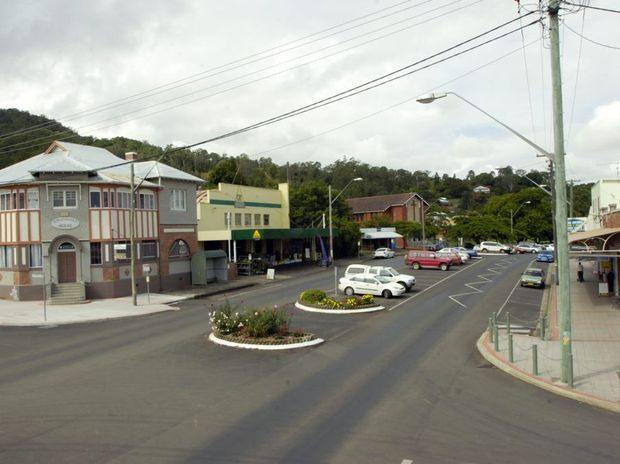 a view of a section of Kyogle main street. photo Jay Cronan