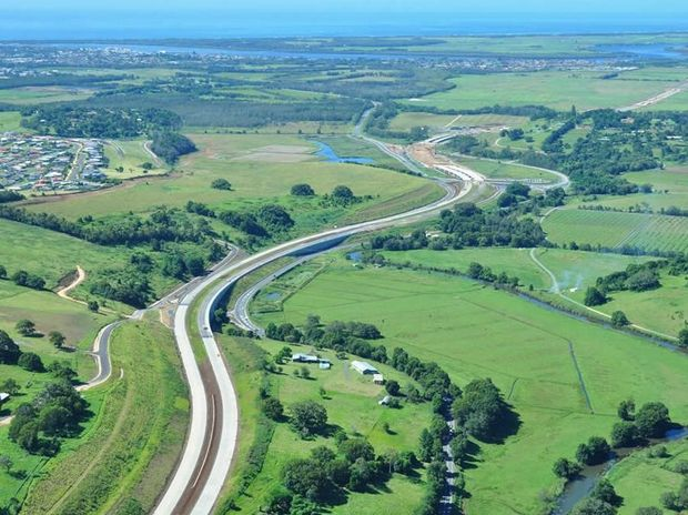 The Ballina bypass route looking south from Cumbalum to the Teven Road interchange in May this year. Photo Contributed