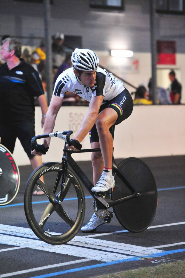 READY TO GO: Franco Marvulli at the 2012 Bundaberg Cycling Spectacular. Photo: Ben Turnbull / NewsMail