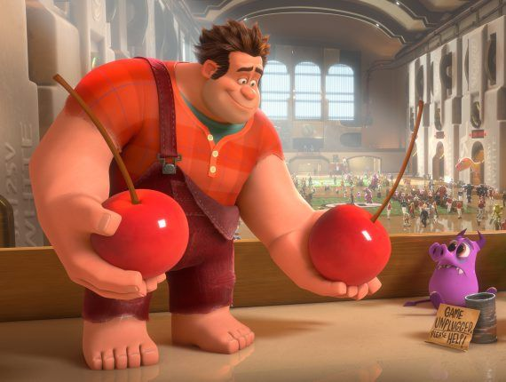 FUN MOVIE: A scene from the movie Wreck-It Ralph.