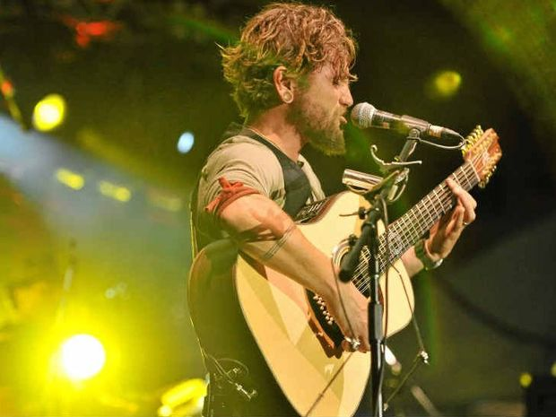 The John Butler Trio performs to a massive crowd at this year's Caloundra Music Festival.