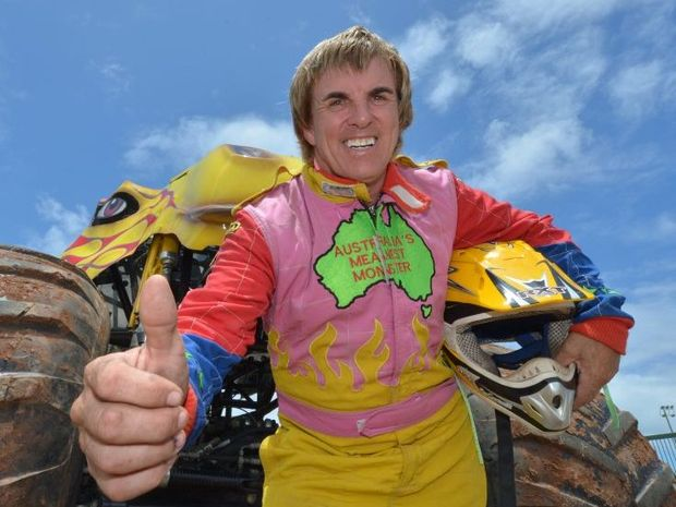 Clive Featherby is rearing to go for the monster truck extravaganza on Friday night.
