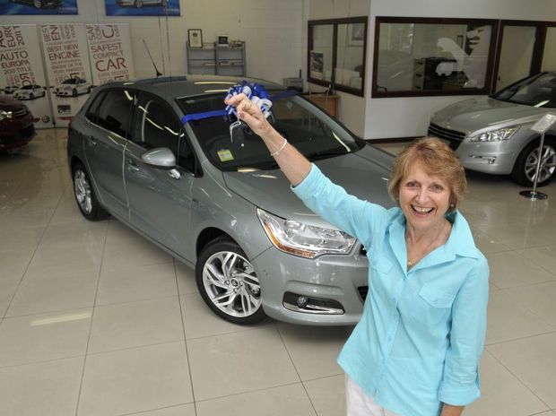 Coral Mengel won a Citroen C4 Exclusive in Grand Central's Christmas Competition.