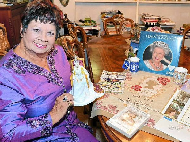 REGAL HOBBY: June Upton with part of her royal collection celebrating her love of the Queen and her family.