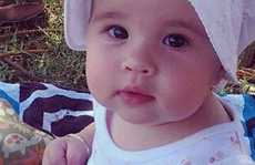 YOUNG Mae Borowiak enjoys her first Christmas at Evans River on Christmas Day.