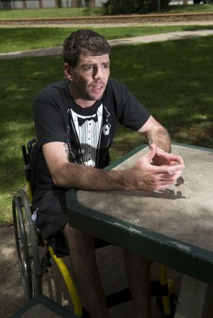 Brad Staggs speaks about his motorbike crash that left him with severe injuries.