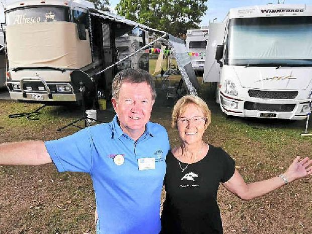 Paul and Eleanor Scully from Newstead, Brisbane, are organisers of the Gold Coast Drifters Campervan and Motorhome Club, and book the use of the Maroochydore State School grounds each year for members' use.