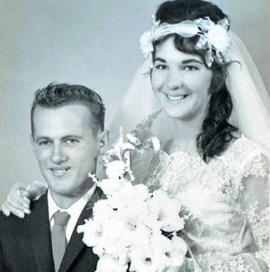 The Kublers on their wedding day in 1963.
