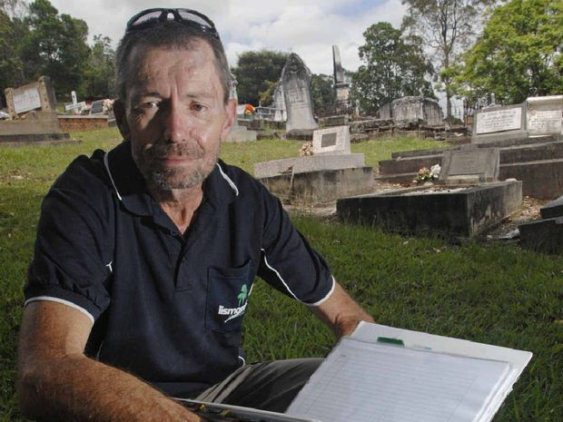 Lismore Memorial Gardens co-ordinator Kris Whitney wants to remind people that double depth graves are still permitted. Photo Marc Stapelberg / The Northern Star