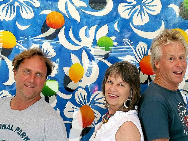 TOGETHER AGAIN: Artists Blair McNamara, Lorraine Abernethy and Ian Tremewen are back together and exhibiting their prodigious talents at Peregian.
