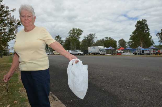 ENOUGH IS ENOUGH: Jill Handley wants those who are littering in Nanango to have more respect for the town and the environment.