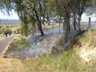 Fallen powerlines spark Lockyer Valley grassfire