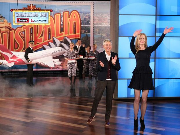 Ellen DeGeneres and Nicole Kidman announce the show's trip Down Under.