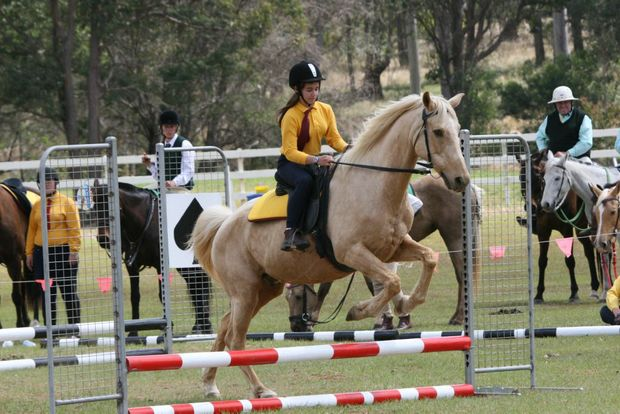 GREAT JUMP: Kumbia Pony Club's Naomi Baldacchino clears the jump.