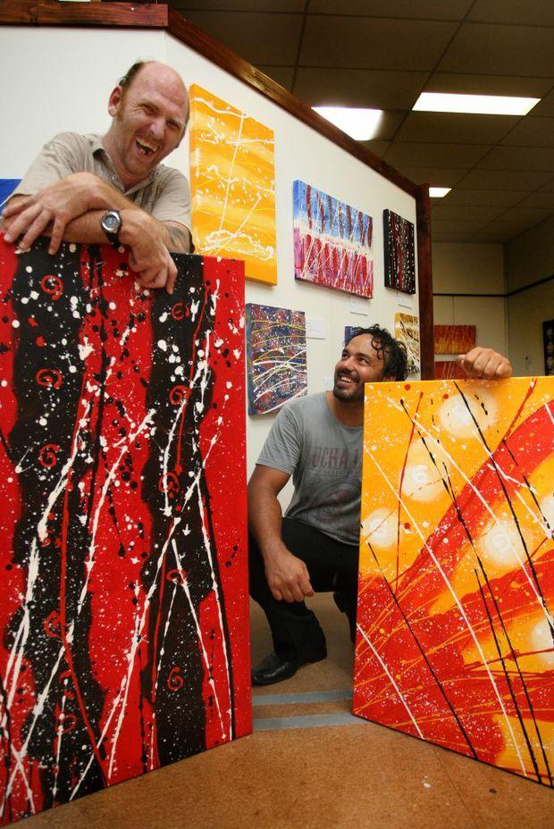 The Goombuckar Cultural Centre and Art Gallery has hung artwork by Joshua 'JJ' Lennox, whose paintings inspire