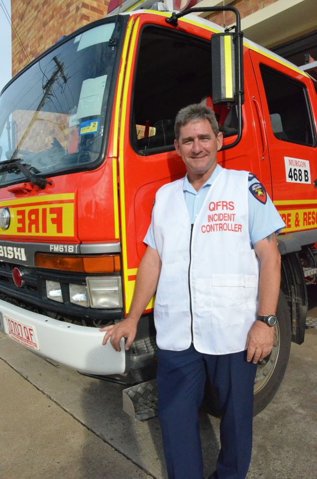 FIRES PUSH FIGHTERS: Queensland Fire and Rescue Service incident controller Mark Long of Murgon Station directed firefighters across the South Burnett as fires blazed over the weekend.