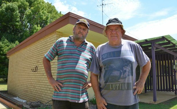 HELPING HANDS: The Blackbutt and Benarkin Aged Care Association's Ross Heaney and Robert Moult have been working hard on the Scott Haven mature aged facilities.