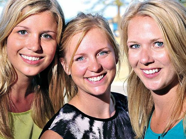 Canadians (from left) Lisa Widmer, Mollie Bingham and Sara Kumpt are reality TV stars with 10 million fans.