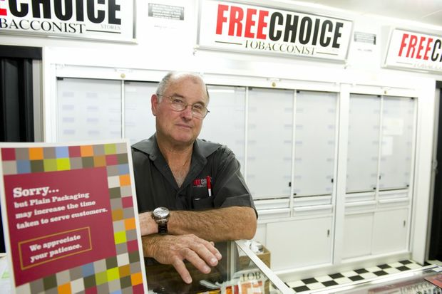 Free Choice Tobacco owner Robert Anderson says plain packaging is not reducing smoking rates.
